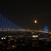 Moonrise over Bosphorus Bridge with Ortakoy Mosque on right