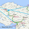 Turkey Sacred Lands & Ancient Civilizations Route Map