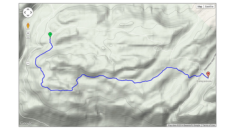 Day 8 - Today's route.