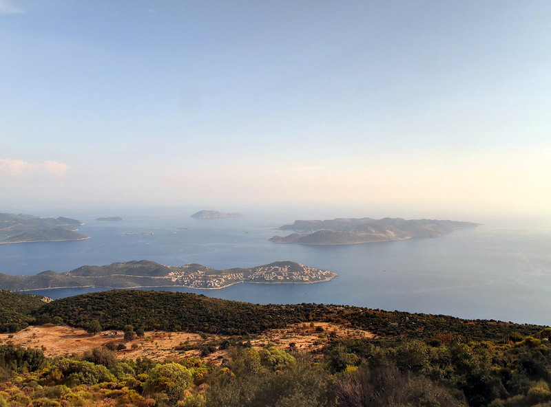 Day 8 - A photo opportunity on the way back to Kas.   The island to the right in this photo is Greek.