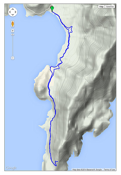 Day 11 - The route of the walk today.