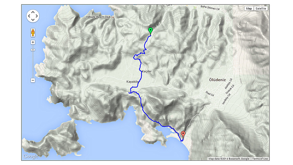 Day 3 - this day's route.