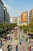 A pedestrian shopping mall in Ankara, turkey, Eurasia.