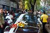 A wedding celebration with flowers decorting a car in Ankara, Turkey, Eurasia.