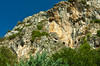 The caves in Mount Starius above the Church of St. Peter near Antakya, Turkey, Eurasia.