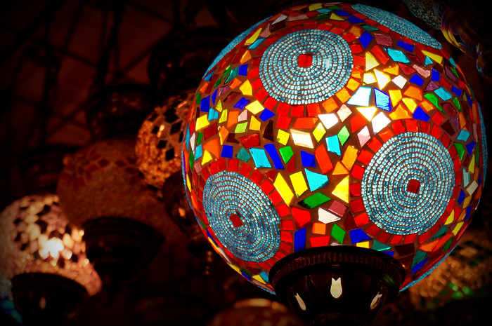 Glass mosaic lamps - the perfect souvenir from your visit to Istanbul!
