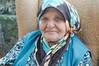 Friendly grandma at a road-side shop in Araç