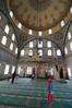 Playing inside the Izzet Mehmet Pasha Mosque