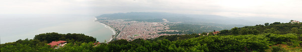 View of Ordu and the Black Sea
