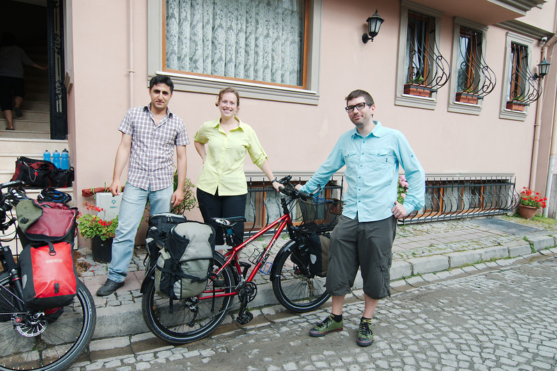 Leaving the Agora Hotel in Sultanahmet, Istanbul for our very first day of cycling
