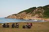 Setting up camp along the Black Sea