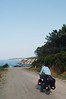 Heading to our first night's campsite along an isolated Black Sea coastal road