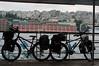 Our bikes on the Bosphorus ferry