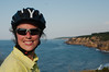 Emilie relieved to have completed her first day of cycling