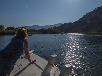 Boat trip on River Dalyan in Turkey ( Our Hood Ornament Gunn). Photo: Martin Bager.