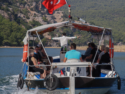 Boat trip on River Dalyan in Turkey. Photo: Martin Bager.