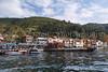 The boat dock at the fishing village of Anadolu Kavagni  along the Bosphorus near Istanbul, Turkey.