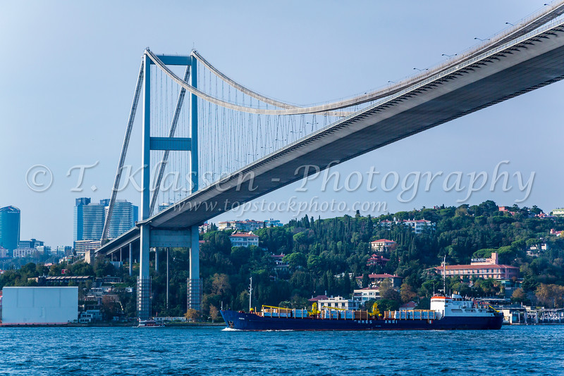The Bosphorus Bridge near Istanbul, Turkey.