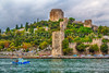 The Rumelihisarı Castle along the Bosphorus near Istanbul, Turkey.