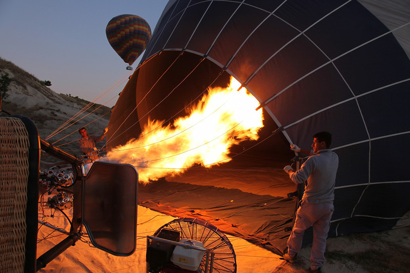 Firing up, Cappadocia, Turkey