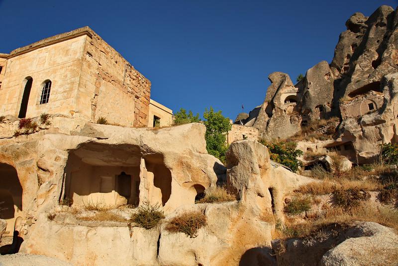 Cave dwellings, Üçhisar, Cappadocia, Turkey