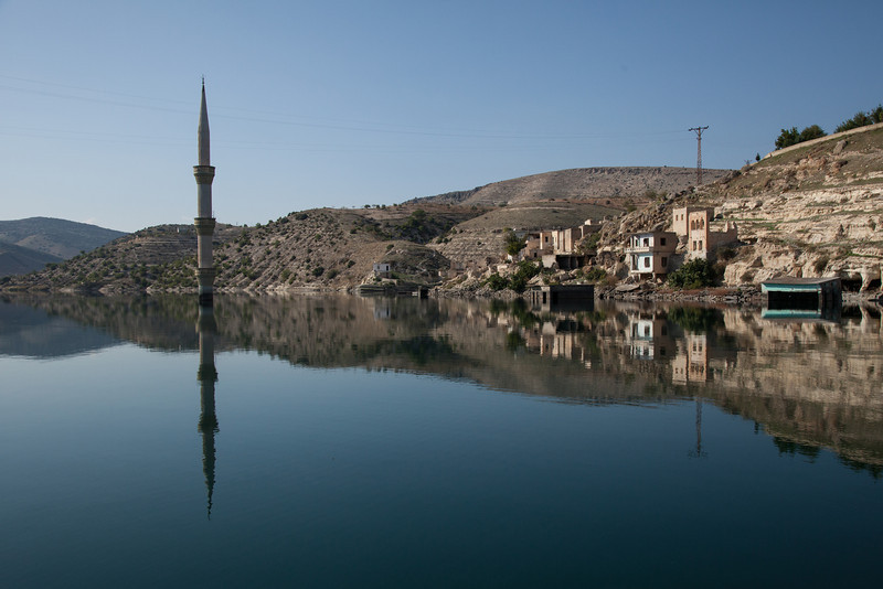 Submerged mosque, Euphrates, Gaziantep, Turkey