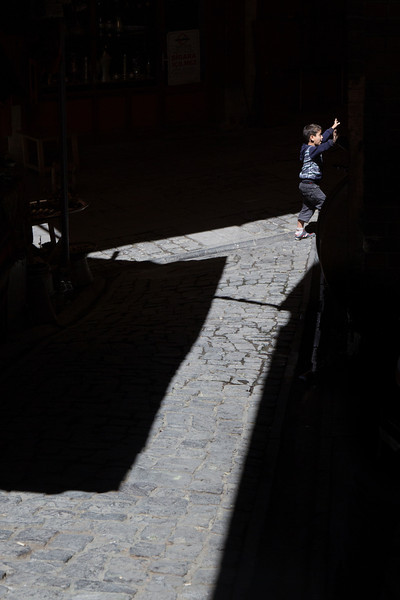 Leaping from the light, Gaziantep, Turkey