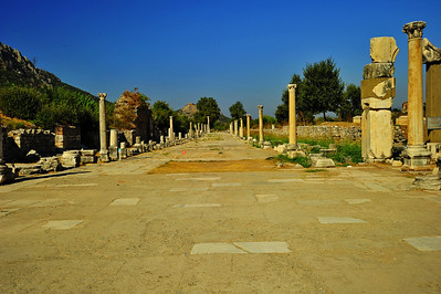 Harbor Road, led to the Kucuk Menderes river and to the Aegean Sea.  The port was just beyond the end pillars.  The river-bay silted up and the sea is now 5 km from Ephesus.
