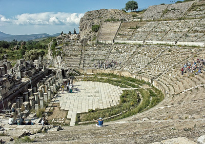 The ancient coliseum at Ephesus