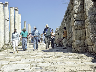 Walking the ancient streets of Ephesus