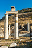 Restored ruins of Prytaneion at the Ephesus archaeological site in Turkey, Eurasia.