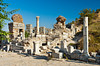 Restored Basilica ruins at the Ephesus archaeological site in Turkey, Eurasia.