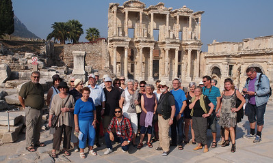 The A-Team at Ephesus in Turkey. Photo: Martin Bager.