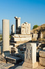 The Gate of Heracles at the Ephesus archaeological site in Turkey, Eurasia.