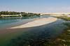 A sand bar on the Euphrates river near the town of Birecik, Turkey, Asia Minor.