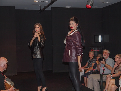 Fasion show at leather jacket factory in Antalya