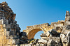 Remains of Basilica Baths at Hierapolis, Turkey, Eurasia.