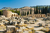 The Domitian Gate and the street of Frontinus at Hierapolis, Turkey, Eurasia.