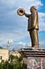 A statue of Suleyman Demirel in Isparta, Turkey, Eurasia.