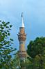 A mosque minaret in Isparta, Turkey, Eurasia.