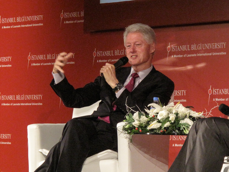 Bill Clinton at Bilgi Univ
