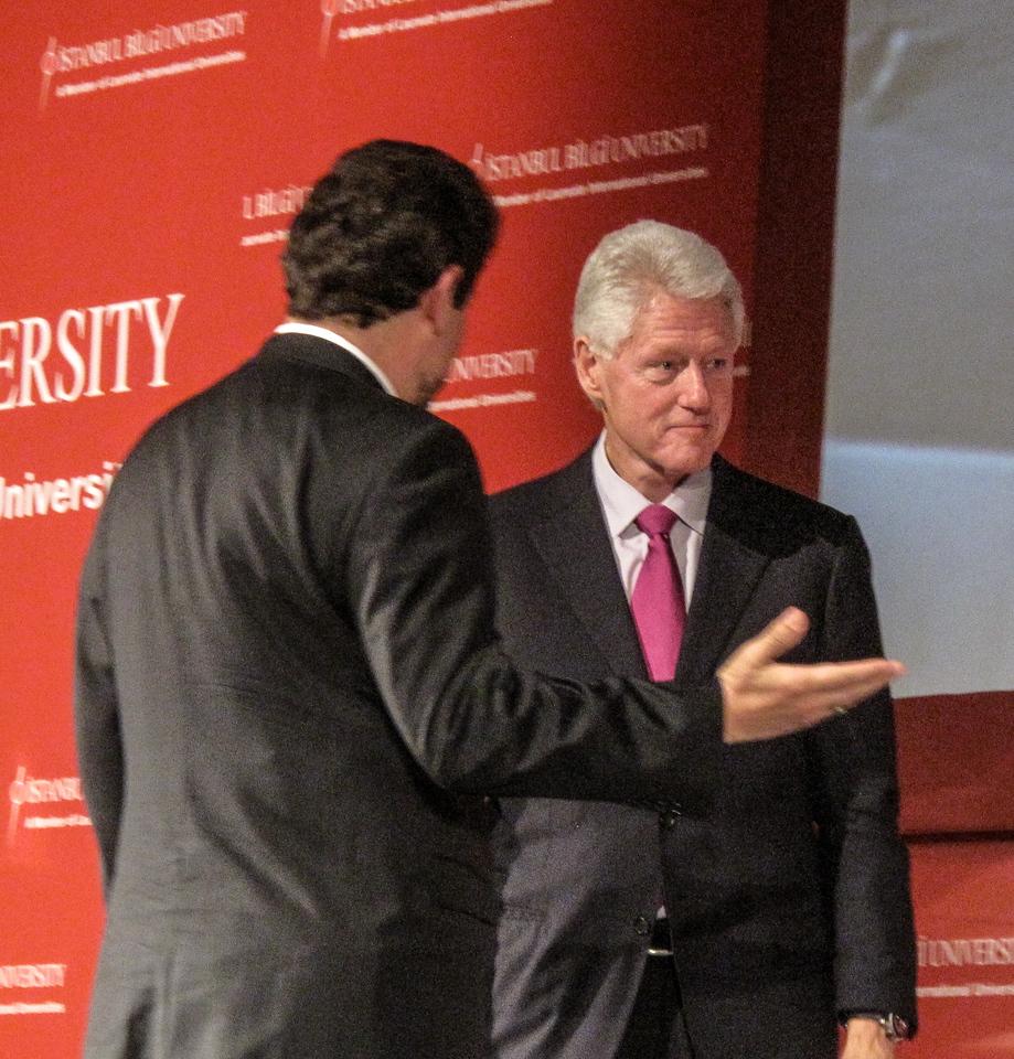 Bill Clinton at Bilgi Univ