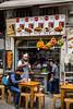 An outdoor restaurant near the Grand Bazaar in Sultanahmet, Istanbul, Turkey, Eurasia.