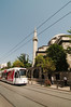 The tram through the touristy Sultan Ahmet District of Istanbul