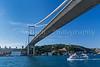 The Bosphorus Bridge in Istanbul, Turkey, Eurasia.