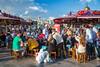 Eminonu Pier floating fish restaurants in Istanbul, Turkey, Eurasia.