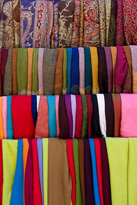 Colorful Scarves at an Istanbul Shop