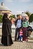 Muslim tourists at the Hagia Sophia Museum in Sultanahmet, Istanbul, Turkey, Eurasia.