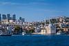 The Ortakoy Mosque along the Bosphorus Strait in Istanbul, Turkey, Eurasia.