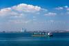 Cargo freighter ships in the Sea of Marmara near Istanbul, Turkey, Eurasia.
